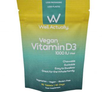 Vegan Vitamin D3 1000IU's | Chewable | Easy to Swallow